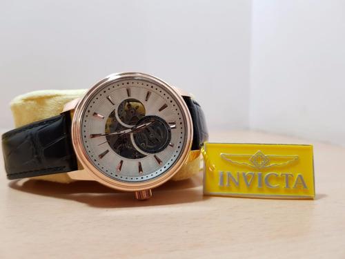 reloj invicta importado bañado en oro de 18 k automatico