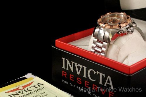 reloj invicta mens swiss reserve excursion gold rose 18kl