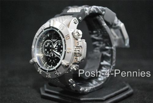 reloj invicta mens swiss subaqua noma iii black chronograph