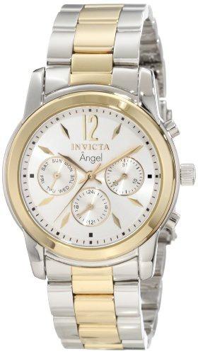 reloj invicta mujer 11735 angel silver dial two tone