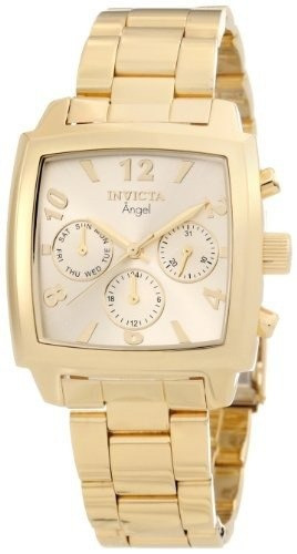 reloj invicta mujer 12101 angel gold 18k gold ion plated