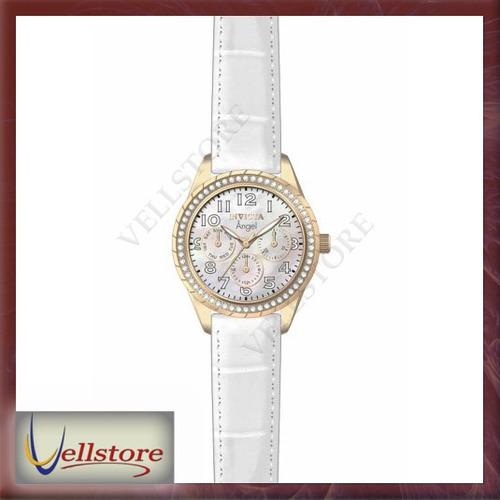 reloj invicta mujer 12608 angel quartz multifunction white
