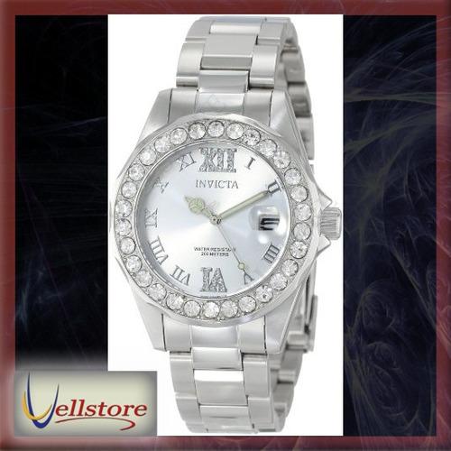 reloj invicta mujer 15251 pro diver silver accented