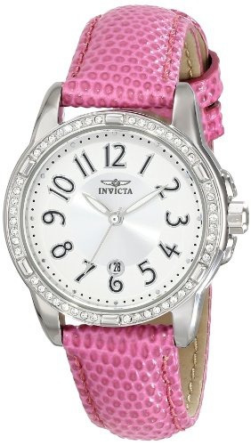 reloj invicta mujer 16339 angel accented pink leather strap