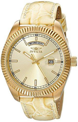 reloj invicta mujer 18271 angel japanese quartz beige
