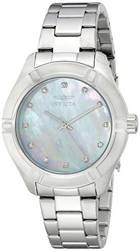 reloj invicta mujer 18319 pro diver japanese quartz silver