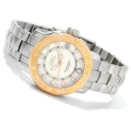 reloj invicta mujer 1994 pro diver ss case goldtone bezel ss