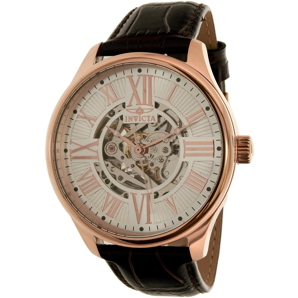 c8199090d830 reloj invicta para hombre 22569 correa de cuero marrón. Cargando zoom.