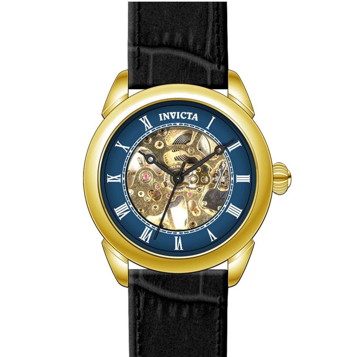 6807c537b9e1 reloj invicta para hombre 23536 mecánico correa de cuero. Cargando zoom.