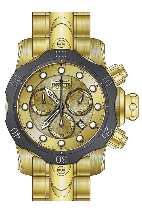 Reloj Invicta Para Hombre 23894 Tablero Dorado Cronógrafo ... 3acdfa52db6f