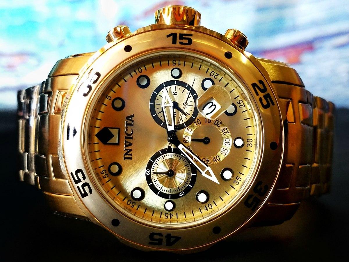 8d854251664 Reloj Invicta Pro Diver 0074 Caballero Dorado Zafiro 18k ...