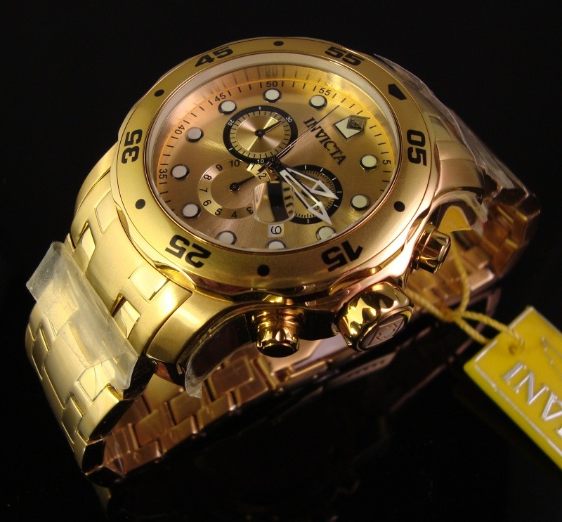 ff291847417 Reloj Invicta Pro Diver 0074 Original Hombres Dorado Usa -   749.900 ...