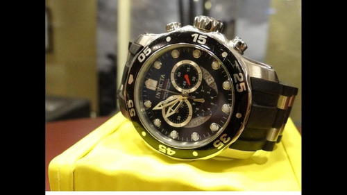 reloj invicta pro diver 6981 dorado /neg cronografo acero