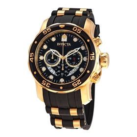 Reloj Invicta Pro Diver 6981 Elegante Negro Dorado Big Case