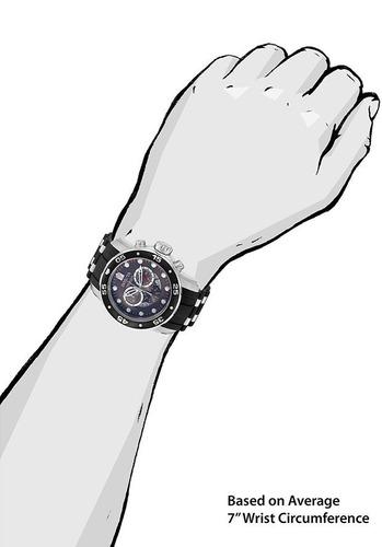 reloj invicta pro diver cronógrafo acero negro, caucho 6977