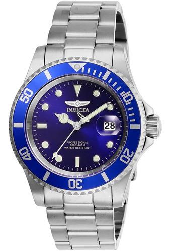 reloj invicta pro diver reloj de acero inoxidable, azul