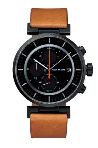 reloj issey miyake w cuero marrón negro