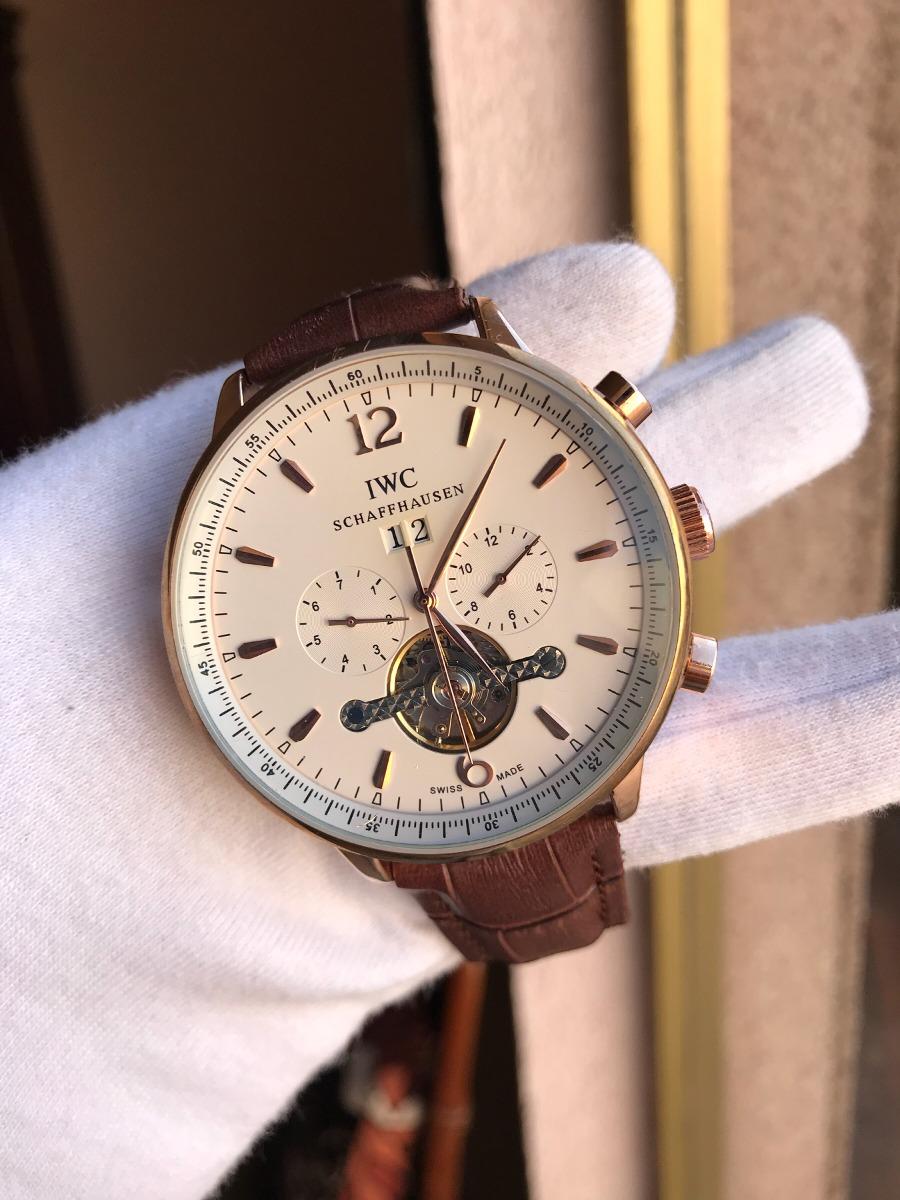 000e3a790665 reloj iwc schaffhausen automatico piel. Cargando zoom.