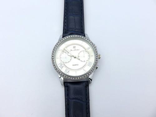 reloj jean cartier. cuero fashon luxory (negro).