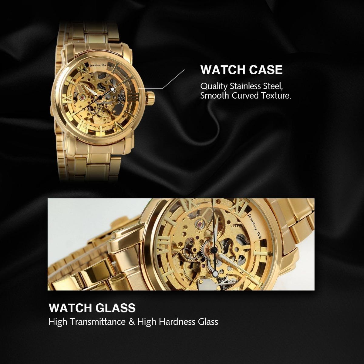 307778446 Reloj Jewelry We Estilo Oro Acero Inoxidable Automatico - $ 3.699,00 ...
