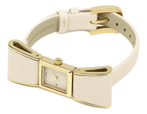 reloj kate spade lazo crema dorado 70% - original nuevo