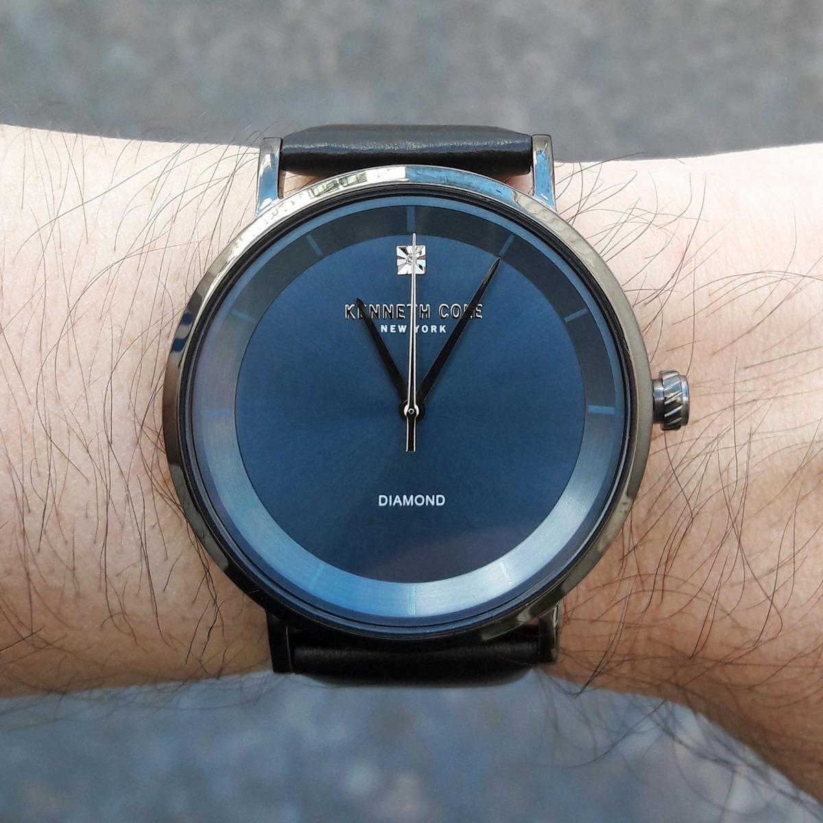 ecf3cd6c125 reloj kenneth cole cuarzo cuero genuino 100% original nuevo. Cargando zoom.