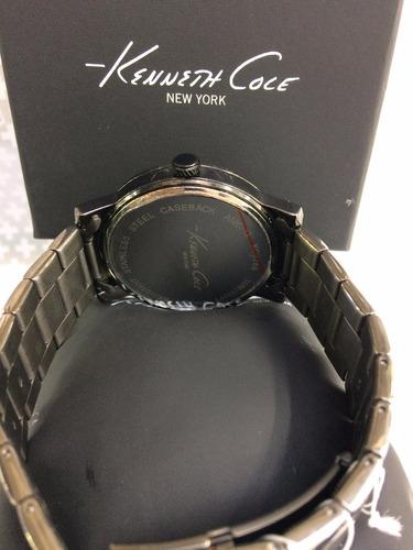 reloj kenneth cole new york acero negro diamond