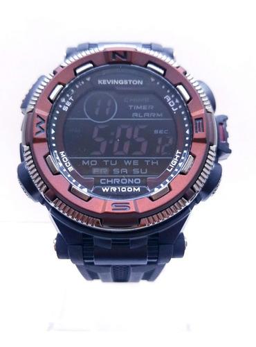 reloj kevingston hombre sumergible 100 metros digital sport