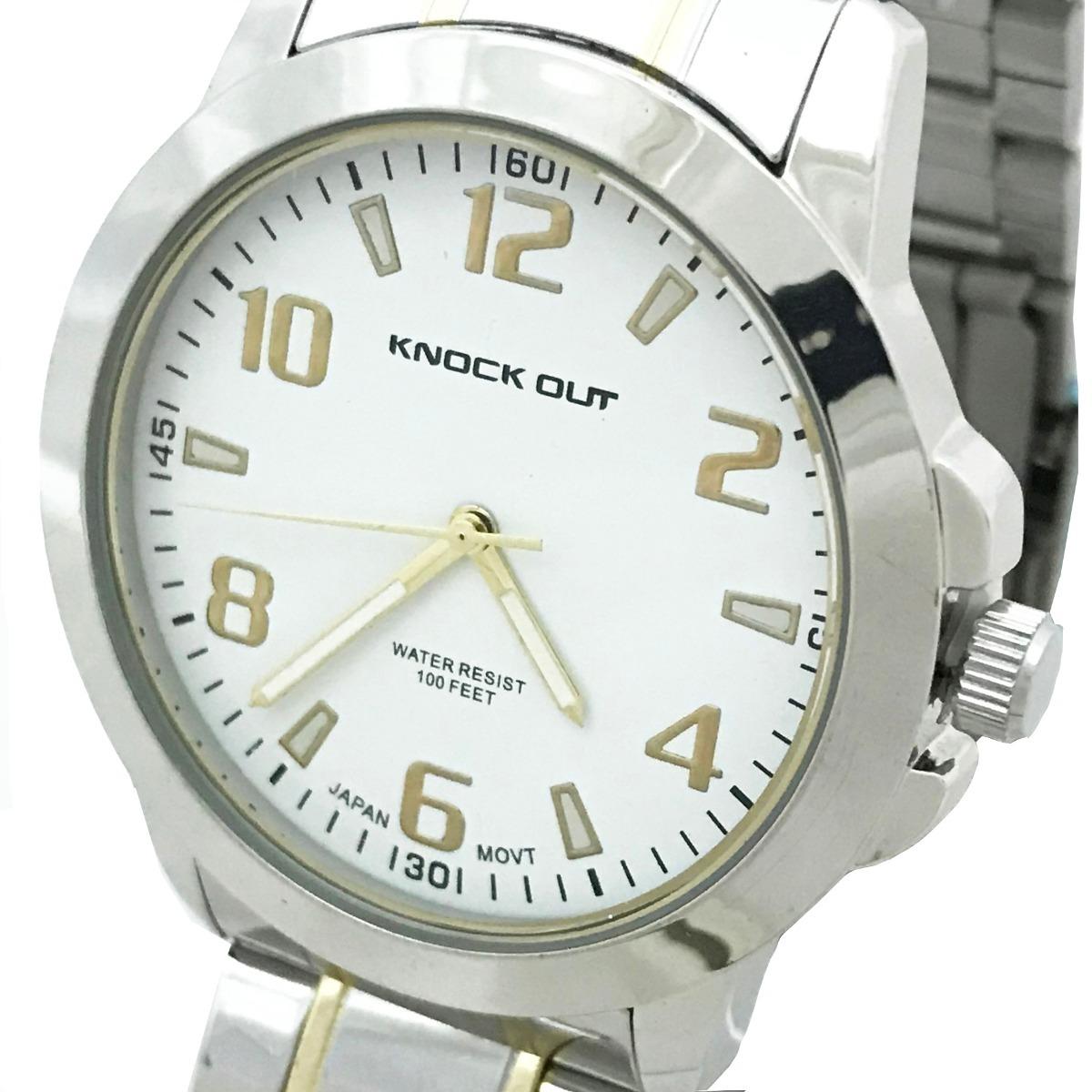 5003f8f60280 reloj knock out 2359 plata hombre caballero metalico. Cargando zoom.