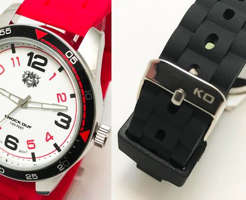 1e8606553b15 reloj knock out 8460 caucho silicona hombre caballero. Cargando zoom.