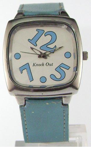 reloj knock out dama celeste garantia escrita 12 meses