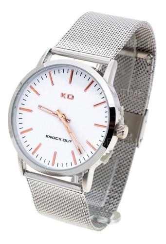 reloj knock out hombre 1559 malla tejida metal wr