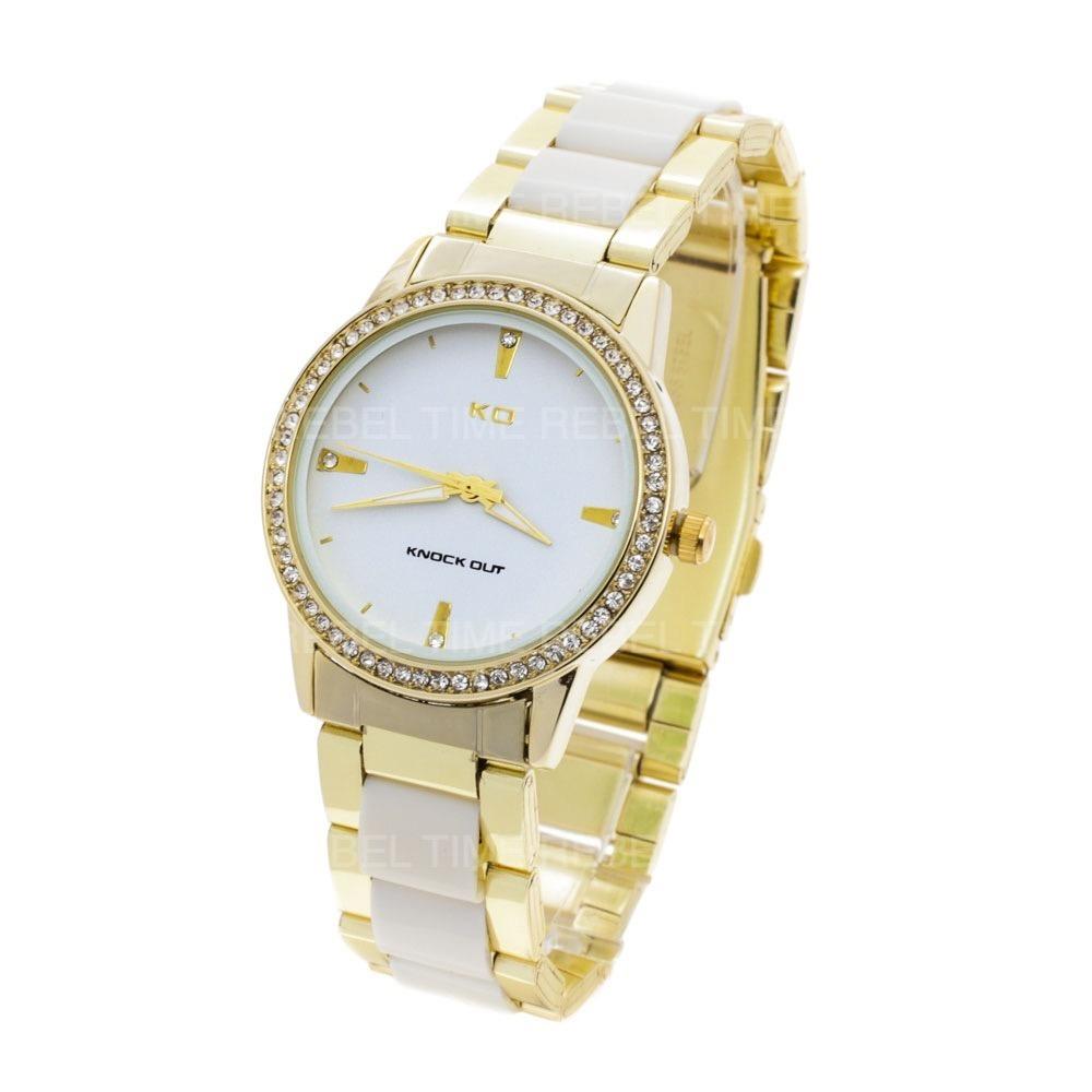 bb21b7a21e63 reloj knock out mujer 2346 312 malla combinada analógico. Cargando zoom.