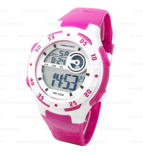 reloj knock out niño digital luz sumergible alarma 8148