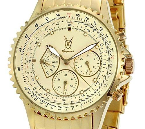 reloj konigswerk de tono dorado para hombre fecha multifunci