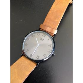 Reloj Kosiuko Cuero Extra Plano Slim Urbano Unisex Impecable