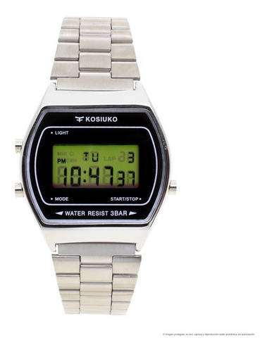 reloj kosiuko hombre 7841 111 wr30 digital vintage metal