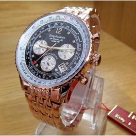 Reloj Krug Baumen 400602ds Diamond Black Dial Rose Gold Stra