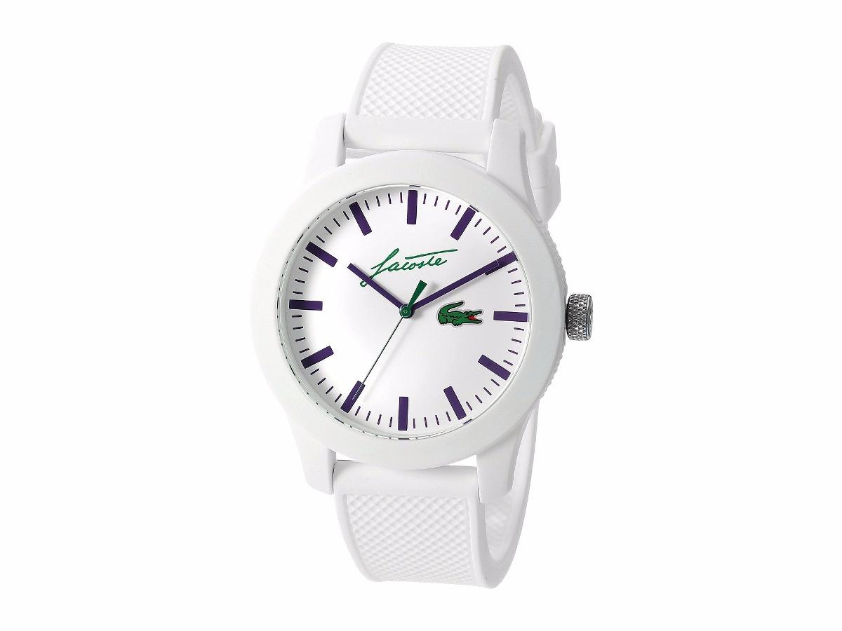 7a10a3d34745 reloj lacoste para hombre analogico cuarzo color blanco. Cargando zoom.