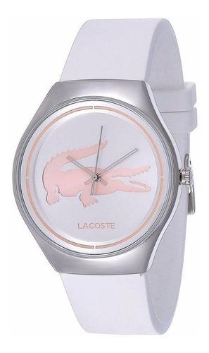 reloj lacoste valencia acero silicón blanco mujer 2000838