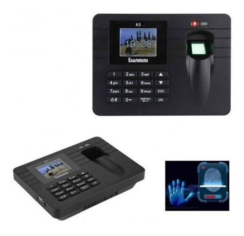 reloj lector biométrico huella dactilar control asistencia