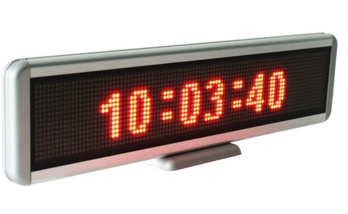 reloj led 30x10cm, 5v , 3 colores, grenelectronic chile
