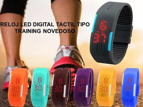 reloj led de silicona ultra delgado unisex deportivos nuevos