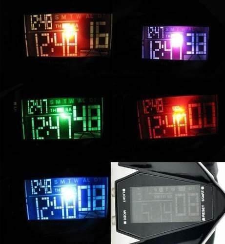 reloj led deportivo modelo avion varios colores digital