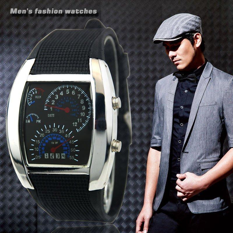 745a597bf430 reloj led hombre digital rapido furioso carro moda caballero. Cargando zoom.