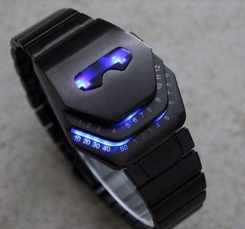 nuevo concepto 8e1d9 57dd4 Reloj Led Metalico Iron Man Lujo Digital Binario Moderno Luz
