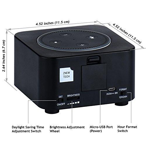 reloj led znewtech para amazon echo dot 2nd generation (negr