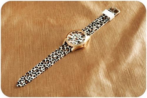 reloj leopardo geneva unixes con pantalla cromada moda 2015