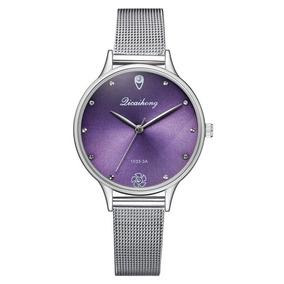 Reloj Licaihong Quartz Mujer Luxury Purpura Analogico QrCdsBtxh