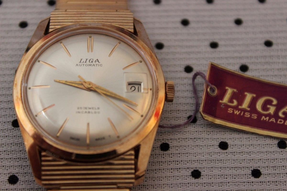 f3f21c65fcf8 reloj liga pulsera hombre enchapado oro suizo vintage nos. Cargando zoom.